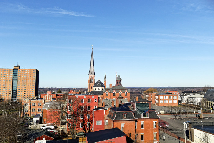 From the rooftop terrace, looking Northwest toward the Cathedral of the Immaculate Conception