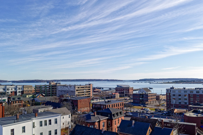 From the rooftop terrace, looking Southeast toward Portland Harbor