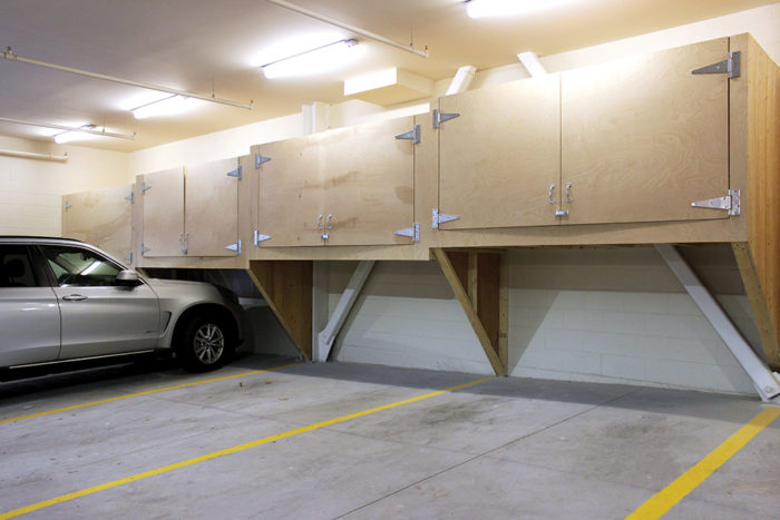 The 118 on Munjoy Hill parking garage seen here shows storage boxes similar to what will be available at Luminato.